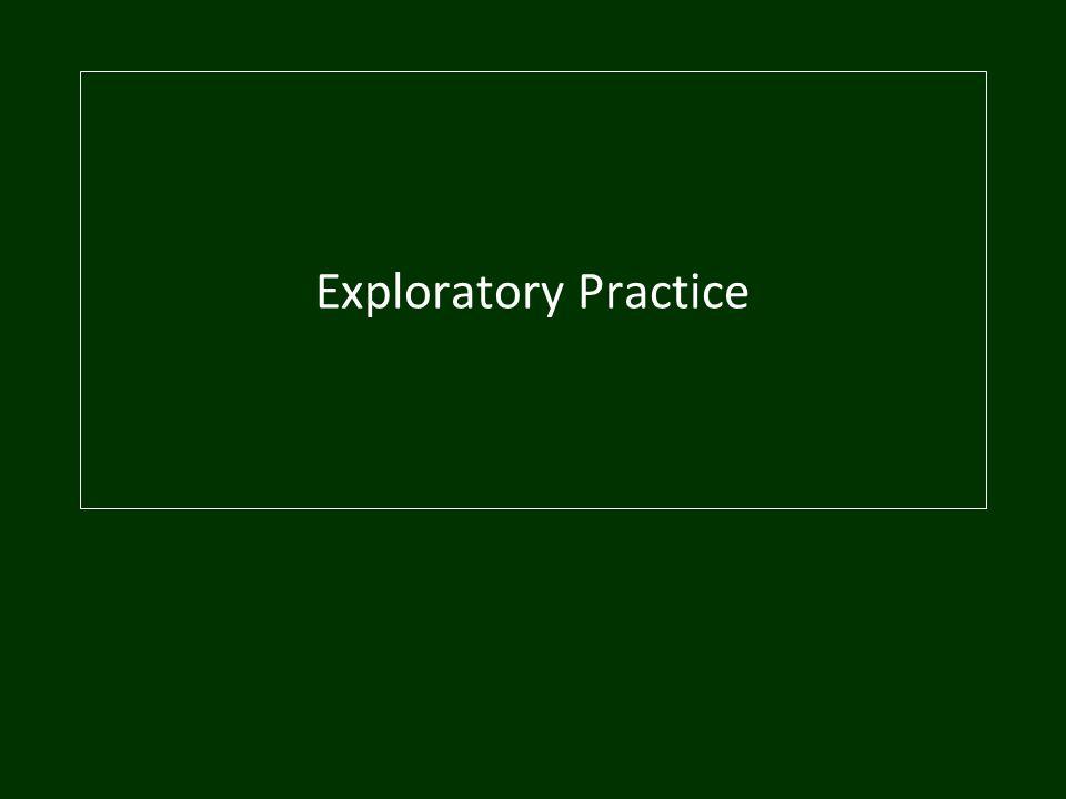 Exploratory Practice