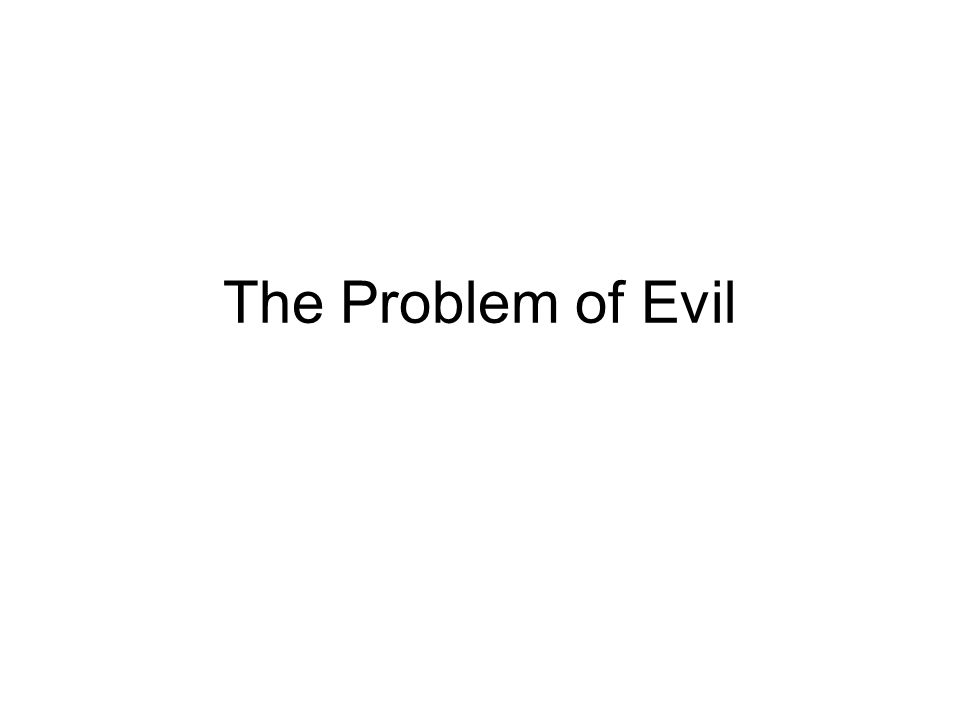 Complicating the Distinction I: Natural Evil and Human Action Note: natural evil seems to require animal suffering.