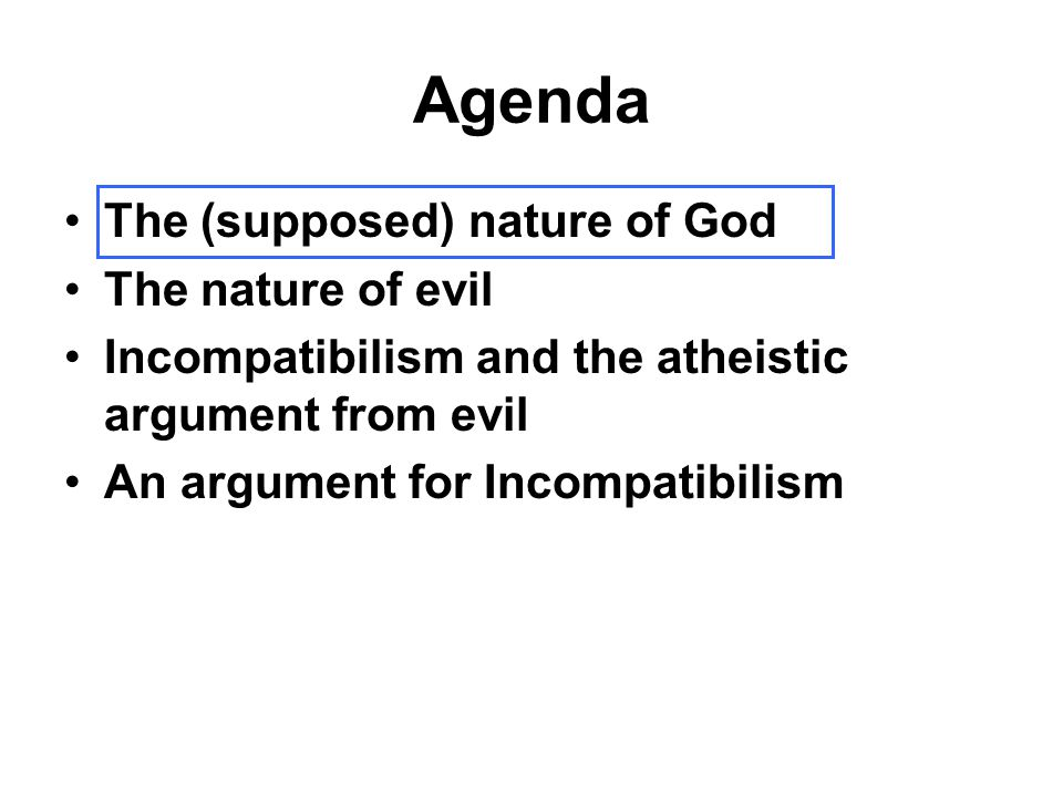 Leibniz's Thesis, Amplified Theodicy: an argument that the existence of evil is justified.
