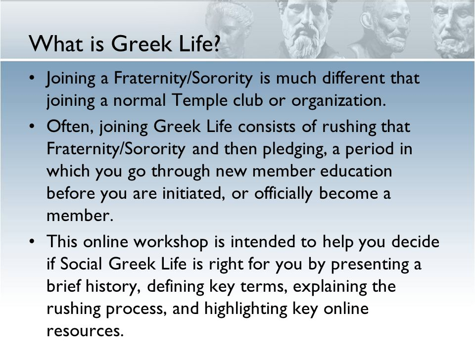 What is Greek Life.