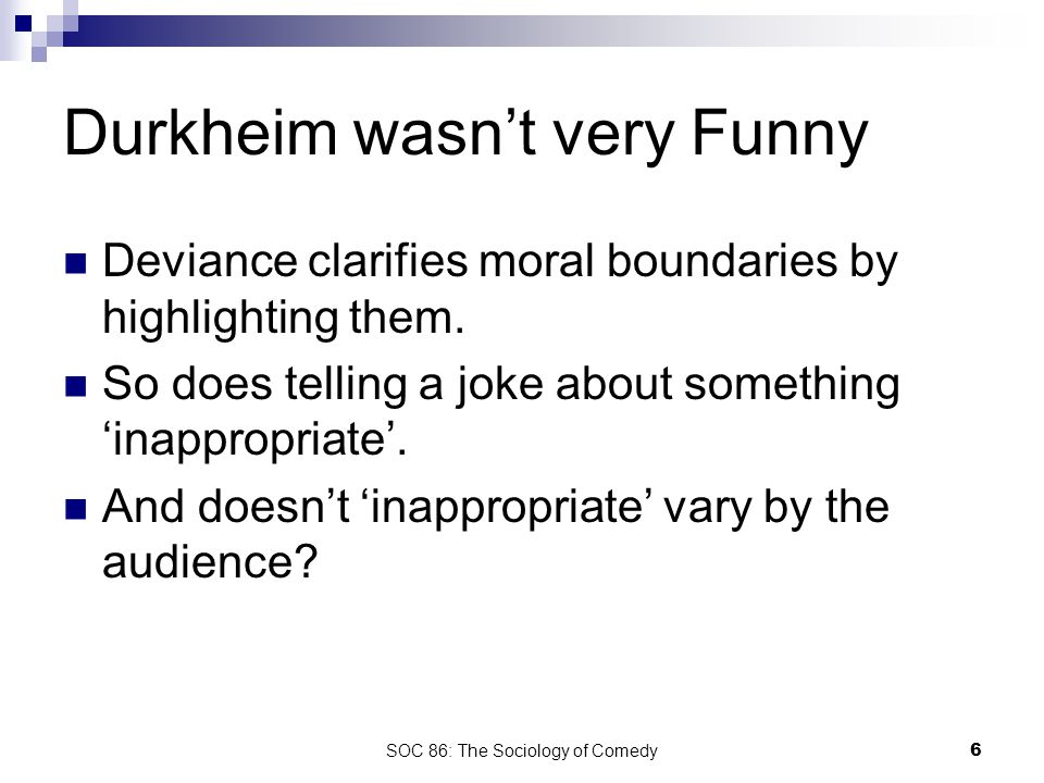 SOC 86: The Sociology of Comedy7 Clive Clemons/Conan Inappropriate Response Channel
