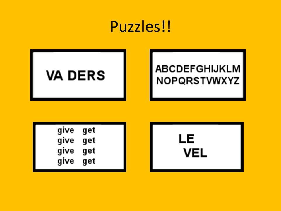 Puzzles!!