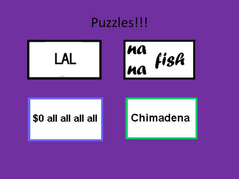 Puzzles!!!