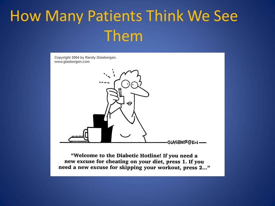 How Many Patients Think We See Them