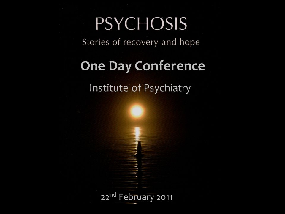 22 nd February 2011 One Day Conference Institute of Psychiatry