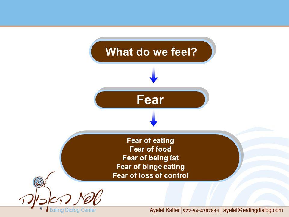 What do we feel.