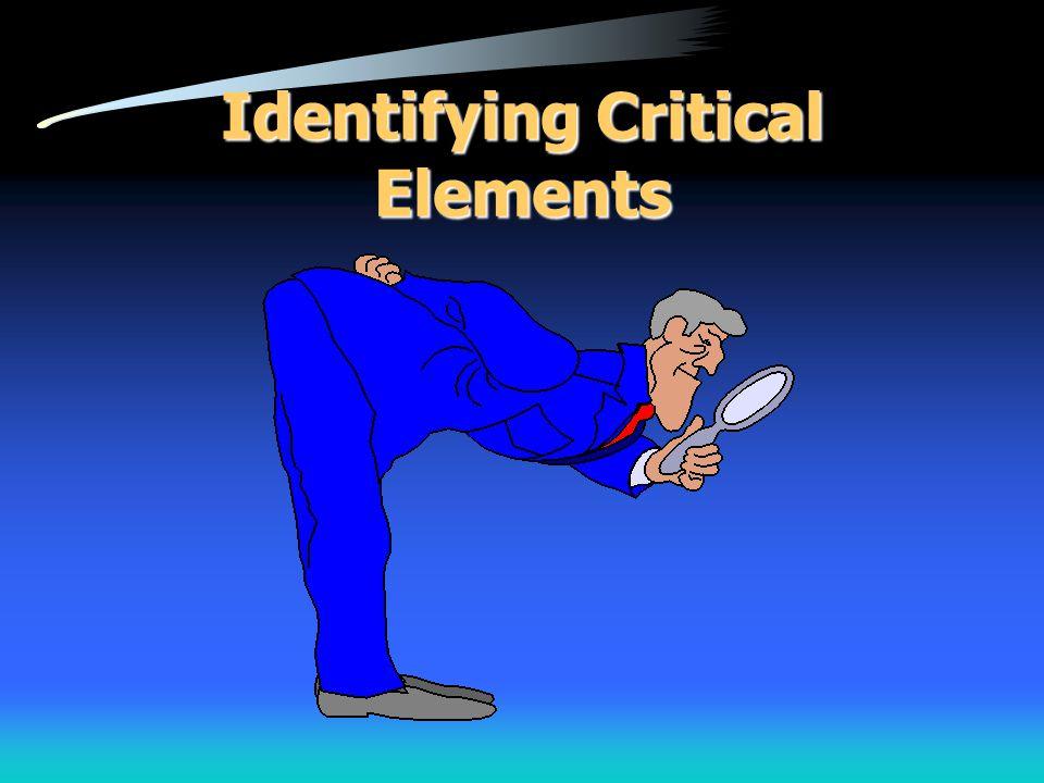 Identifying Critical Elements