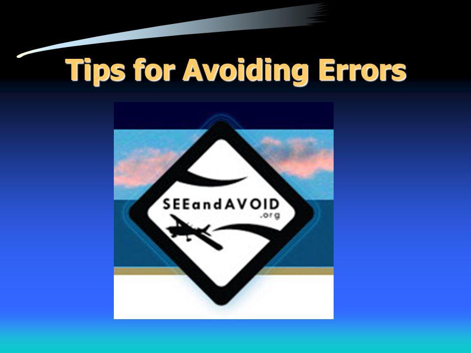 Tips for Avoiding Errors