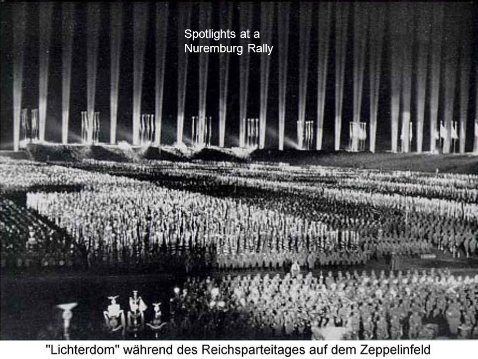 Spotlights at a Nuremburg Rally