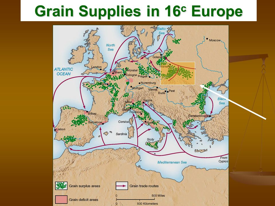 Grain Supplies in 16 c Europe