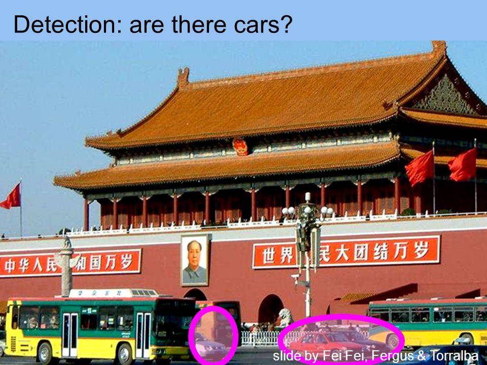 Detection: are there cars slide by Fei Fei, Fergus & Torralba