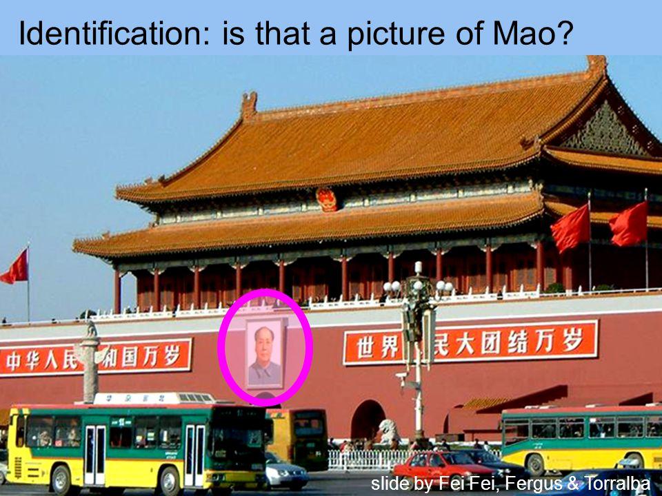 Identification: is that a picture of Mao slide by Fei Fei, Fergus & Torralba