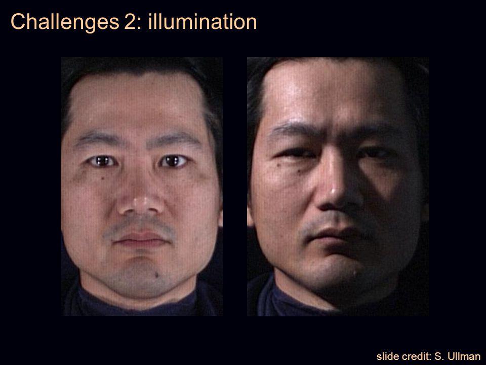 Challenges 2: illumination slide credit: S. Ullman