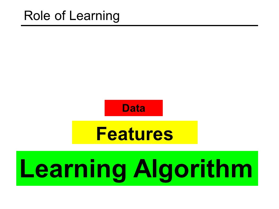 Role of Learning Learning Algorithm Features Data