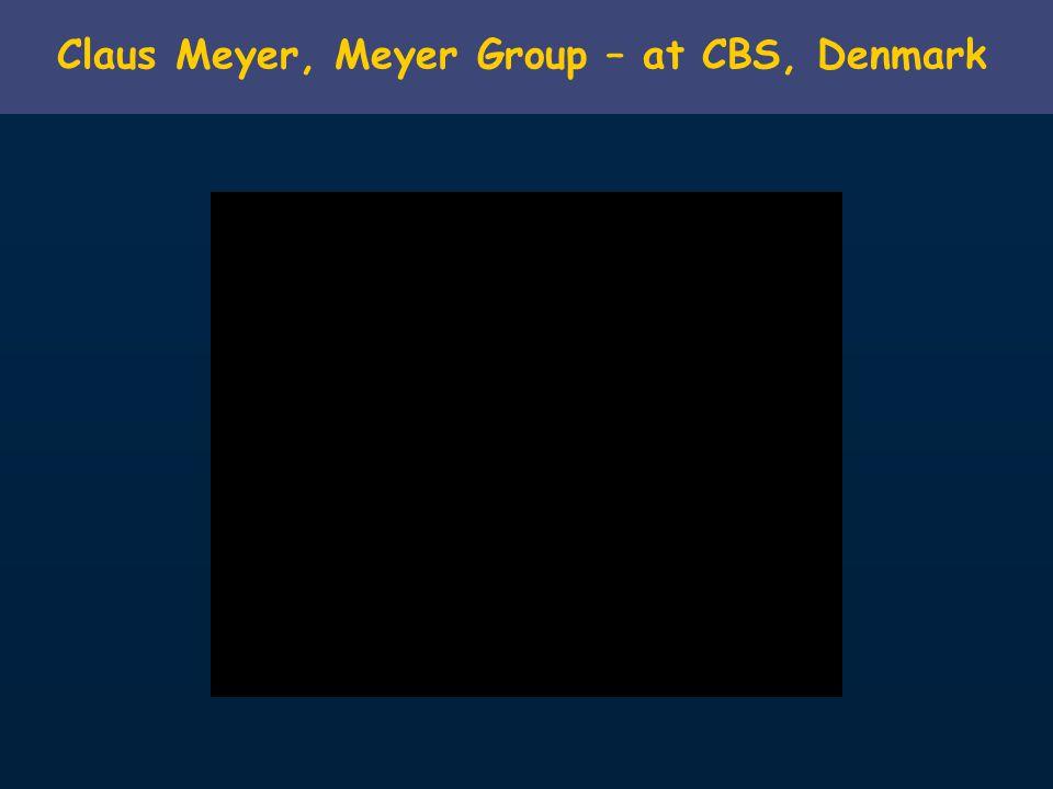 Claus Meyer, Meyer Group – at CBS, Denmark