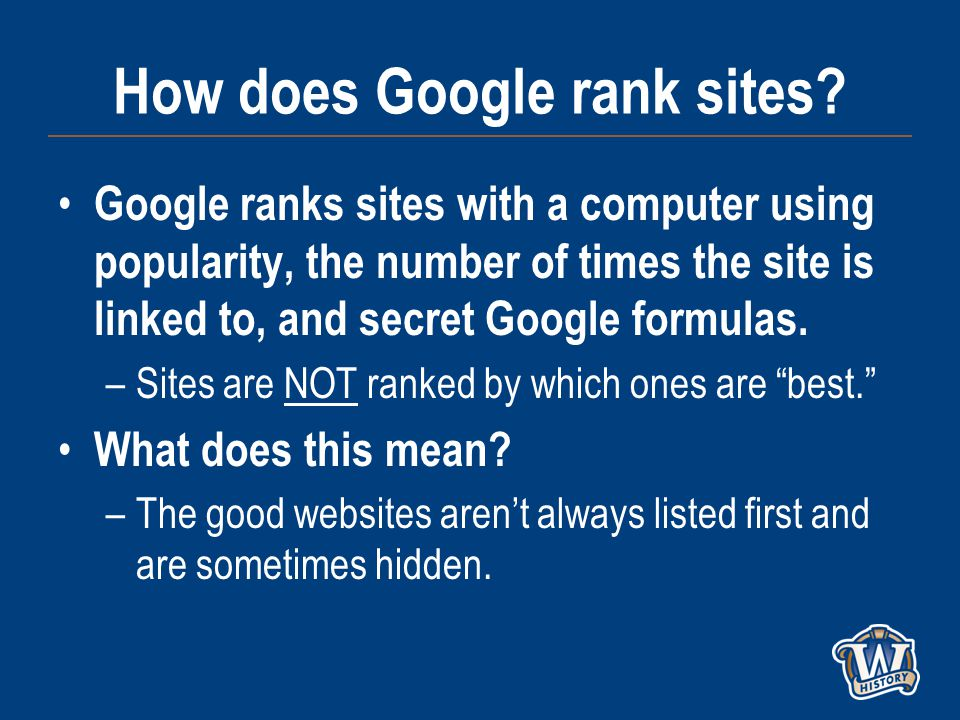 How does Google rank sites.