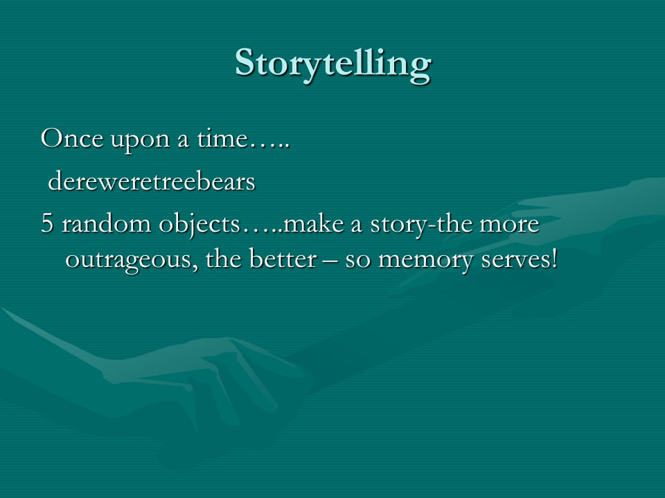 Storytelling Once upon a time…..