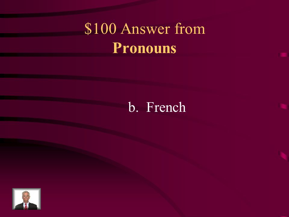$100 Question from Pronouns Publicity (pŭ-blĭs'ĭ-tē) n. 1. Information that concerns a person, group, event, or product and that is disseminated throu