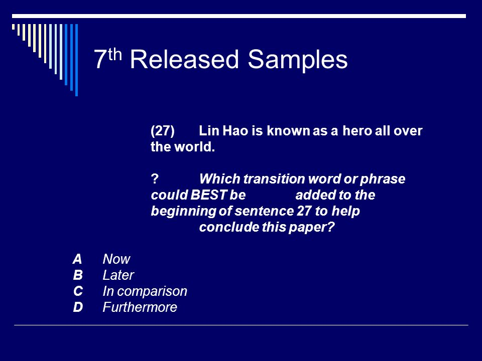 7 th Released Samples (27) Lin Hao is known as a hero all over the world.