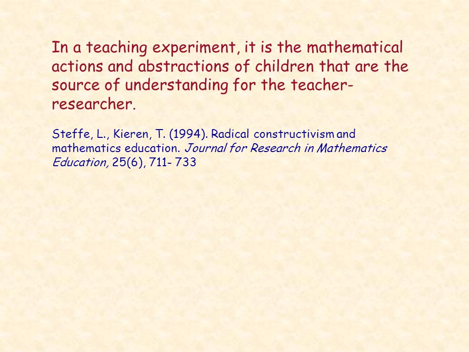 The core of the numeracy project is derived from Children's counting types: philosophy theory and application.
