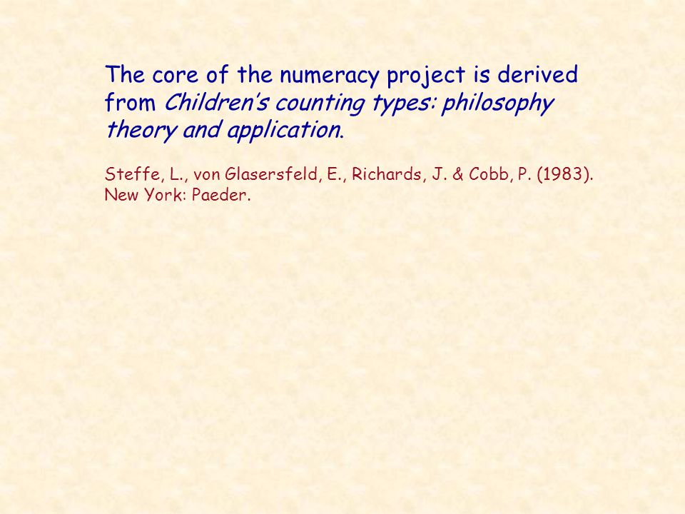 Purposes of the Projects Provision of calculation and estimation skills for other subject users A way of thinking algebraically