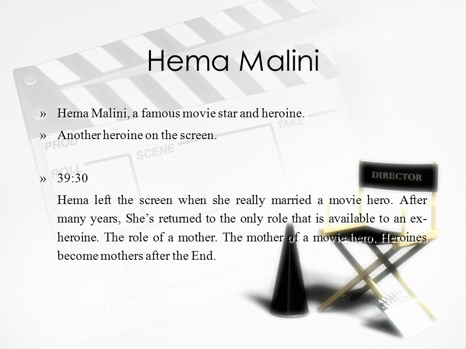 Hema Malini »Hema Malini, a famous movie star and heroine.