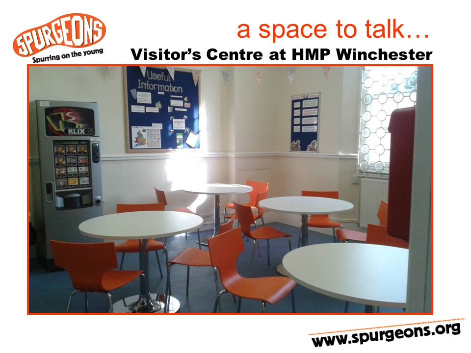 a space to talk… Visitor's Centre at HMP Winchester