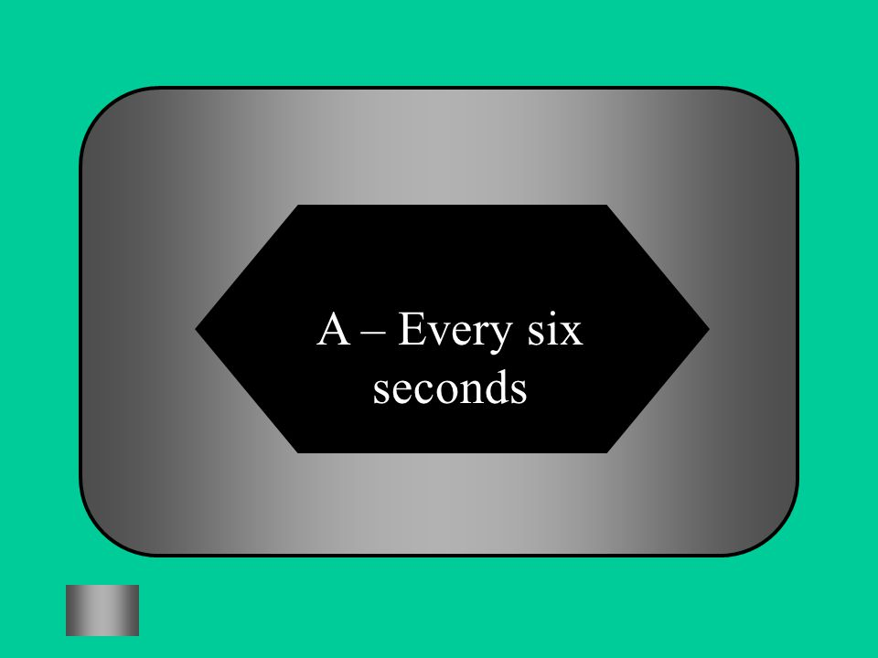 A:B: Every 6 secondsEvery minute #4 How often is someone bullied in England? C:D: Every 10 minutesEvery hour