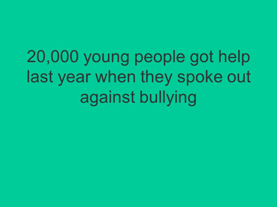 In many cases the effects of bullying aren't visible at all. But this doesn't mean they're less hurtful