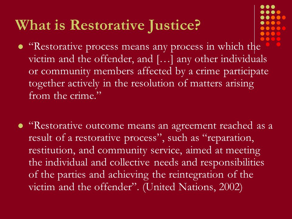What is Restorative Justice.