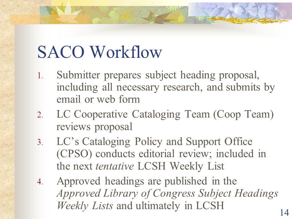 14 SACO Workflow 1.