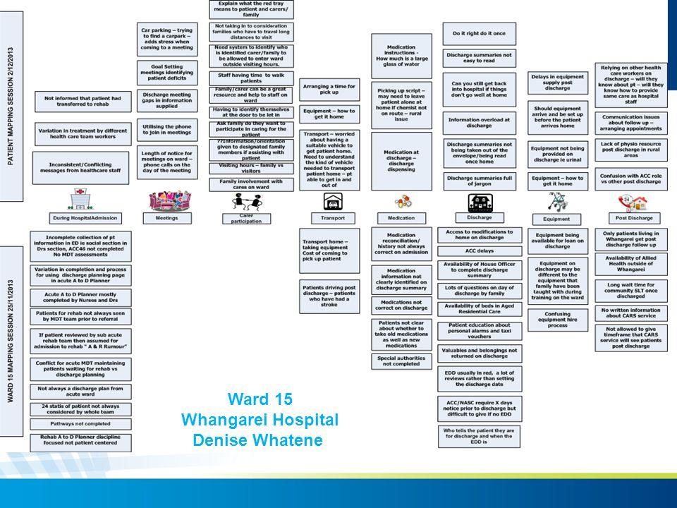 Ward 15 Whangarei Hospital Denise Whatene