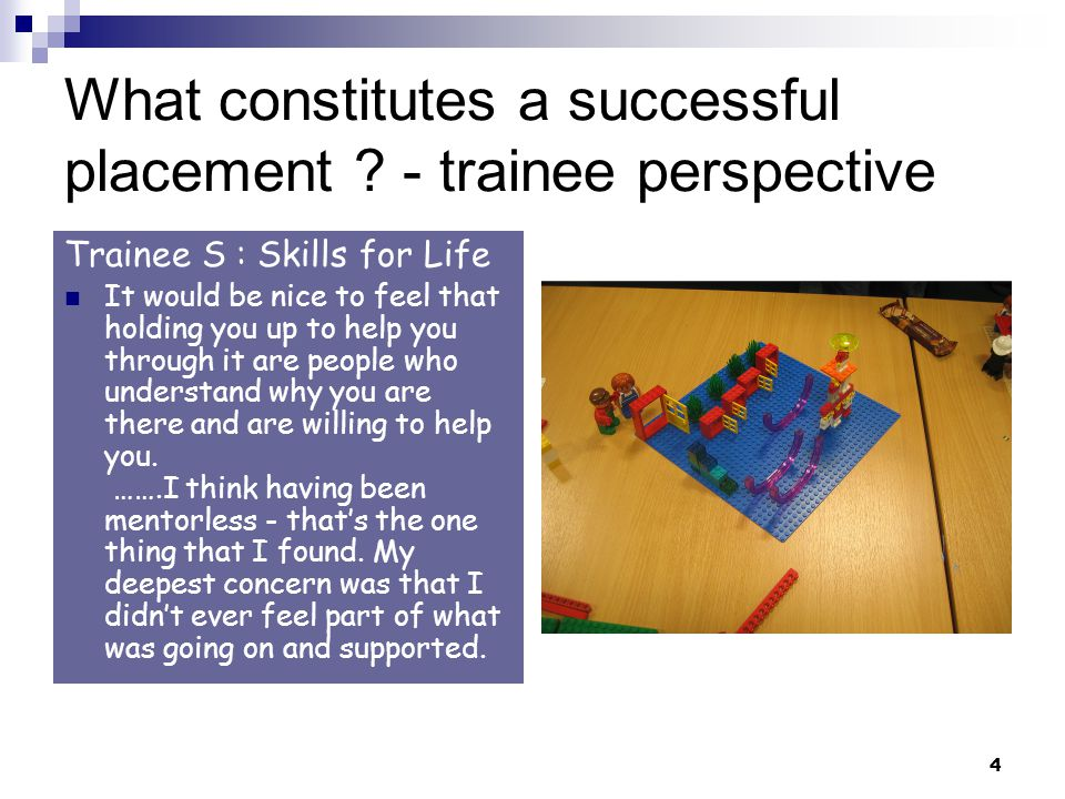 4 What constitutes a successful placement .