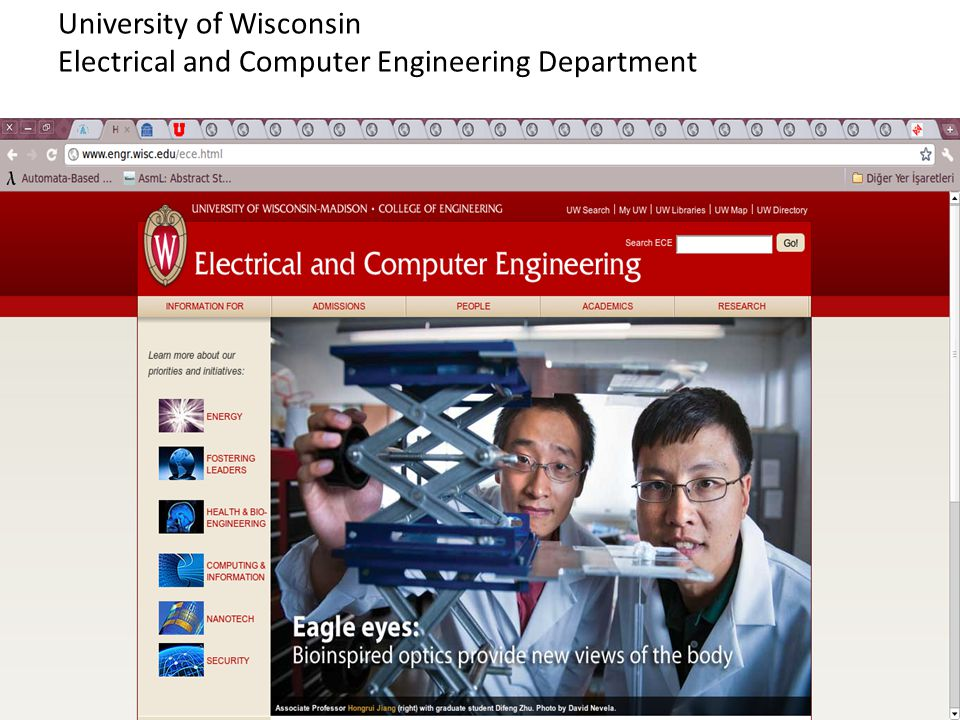 University of Wisconsin Electrical and Computer Engineering Department