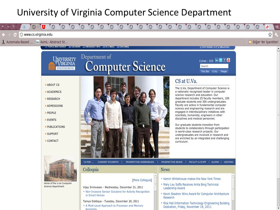 University of Virginia Computer Science Department
