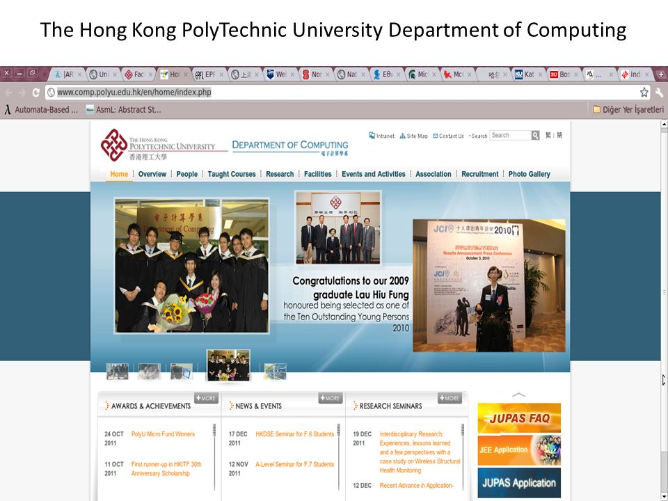 The Hong Kong PolyTechnic University Department of Computing
