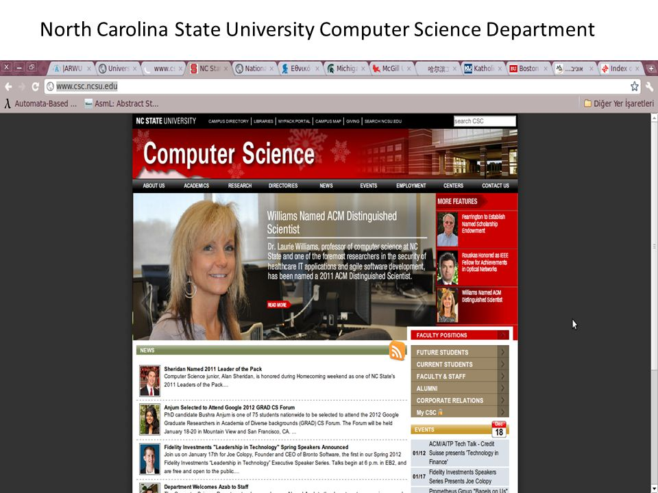 North Carolina State University Computer Science Department
