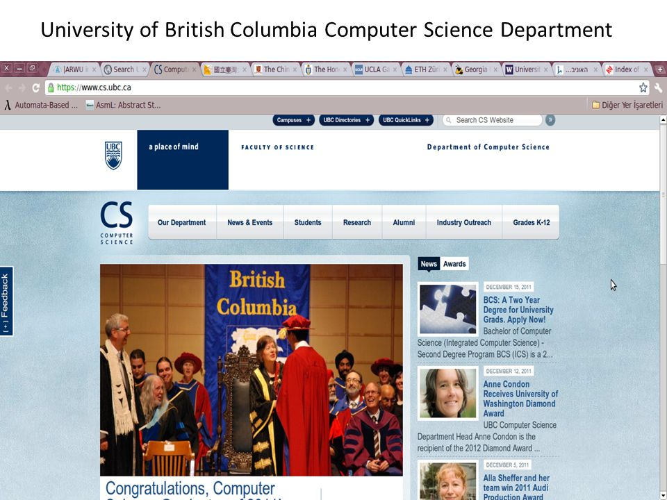 University of British Columbia Computer Science Department