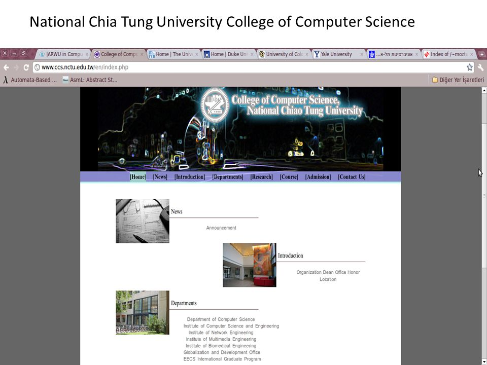 National Chia Tung University College of Computer Science