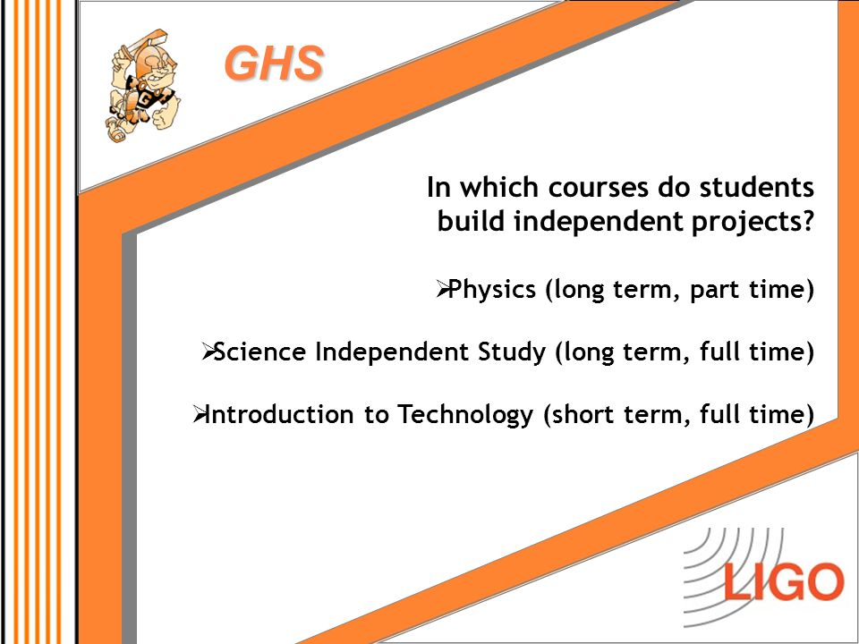 GHS What are the types of student projects.