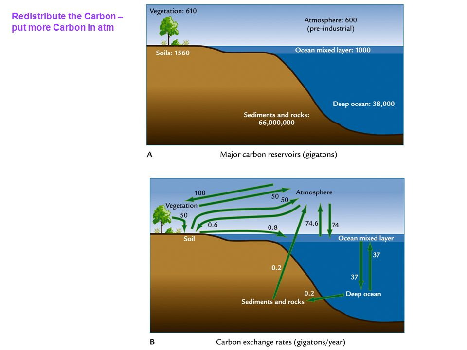 Redistribute the Carbon – put more Carbon in atm
