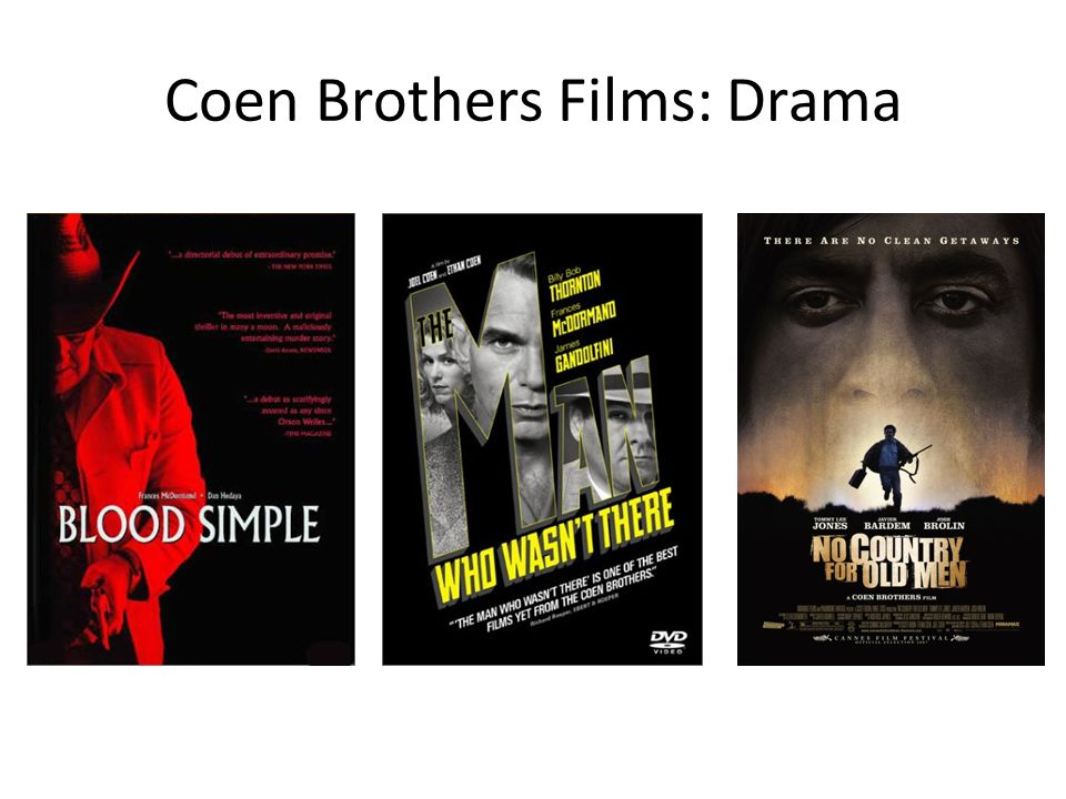 Coen Brothers Films: Drama