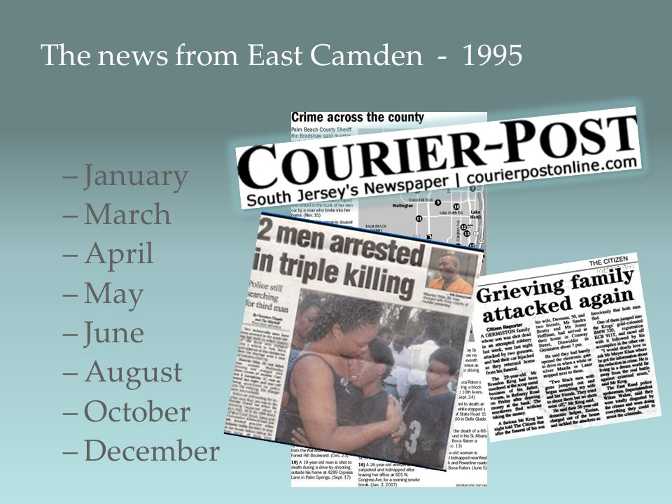 The news from East Camden - 1995 –January –March –April –May –June –August –October –December