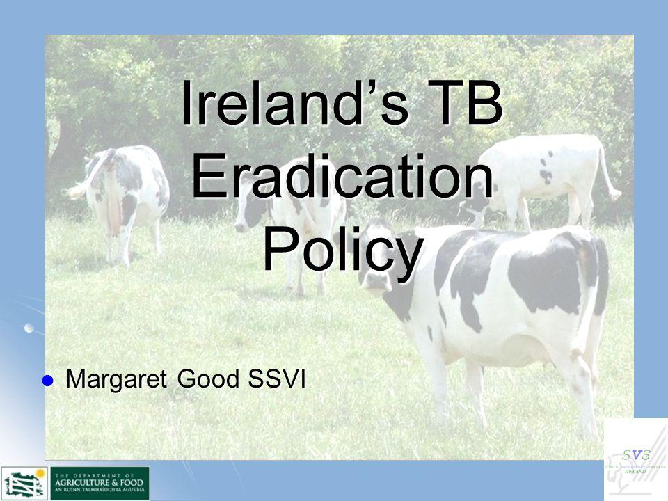 Ireland's TB Eradication Policy Margaret Good SSVI Margaret Good SSVI