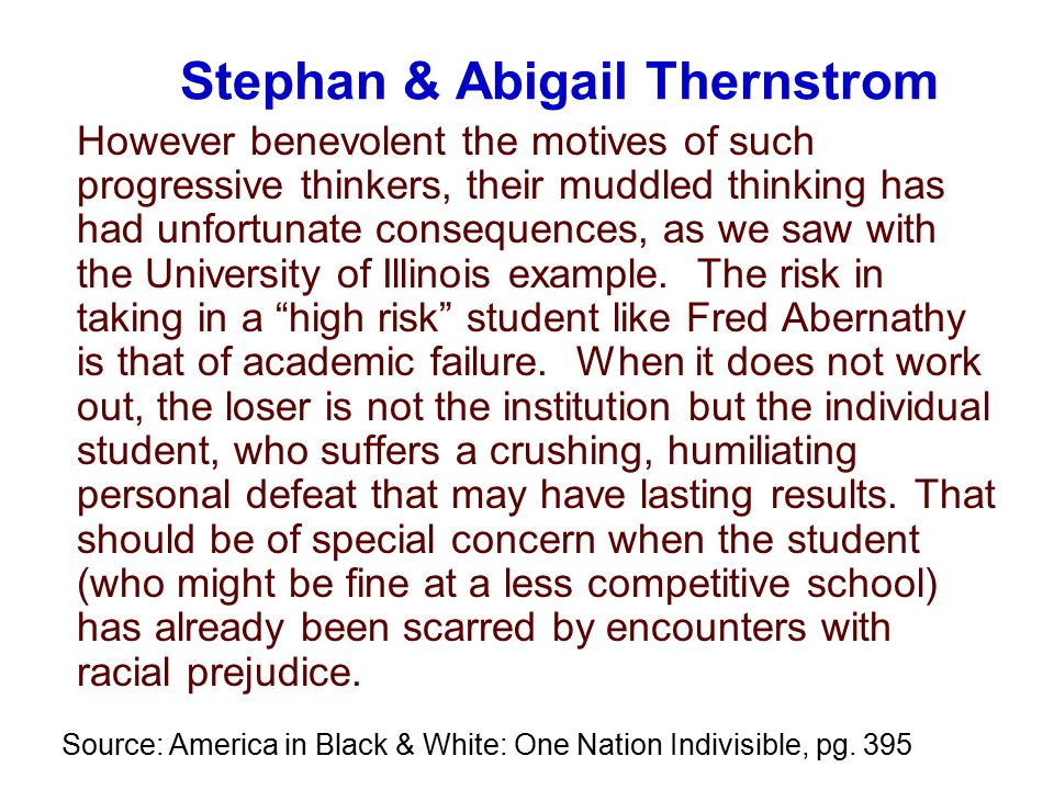 Institutional Commitment (0.75) Source: Nettles & Millett The High Achieving College Student Persistence Study