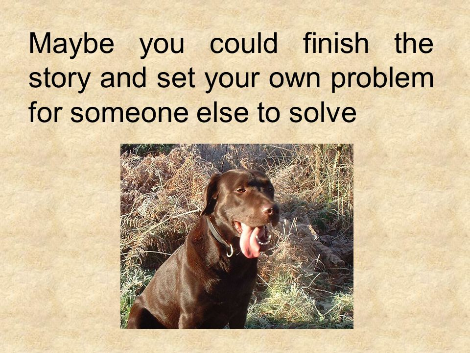 Maybe you could finish the story and set your own problem for someone else to solve