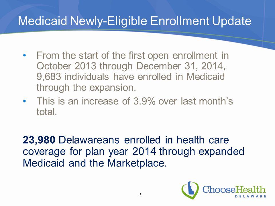 Marketplace Enrollment On December 30, 2014, the U.S.