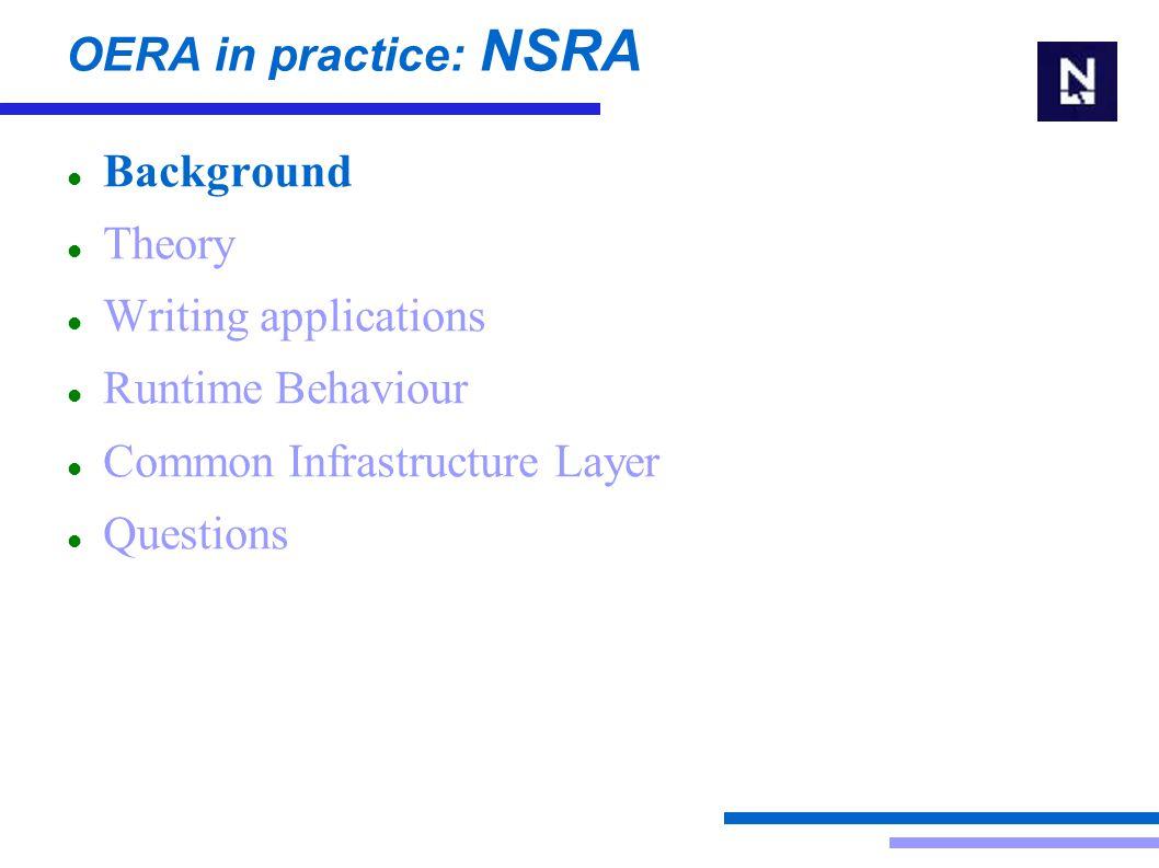 OERA in practice: NSRA Questions