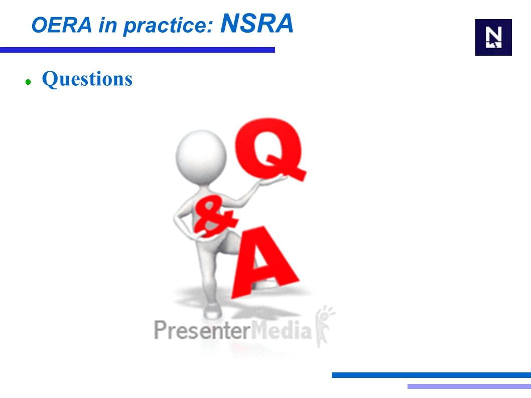 OERA in practice: NSRA Questions