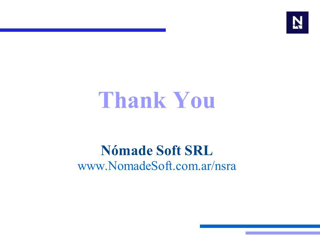 Thank You Nómade Soft SRL www.NomadeSoft.com.ar/nsra